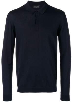 Roberto Collina long-sleeved polo shirt