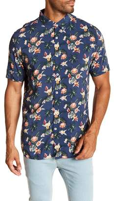 Barney Cools Holiday Short Sleeve Hawaiian Print Regular Fit Shirt