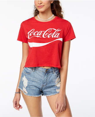 Freeze 24-7 Juniors' Cropped Coca-Cola T-Shirt