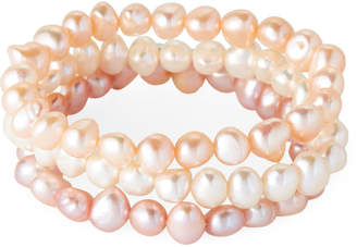 N. Tara Pearls Set of 3 Pearl Stretch Bracelets