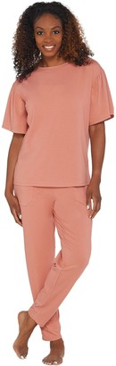 Anybody AnyBody Loungewear Cozy Knit Flutter Sleeve Pajama Set