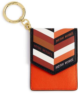 Henri Bendel Chevron Leather Cards And Keys Holder