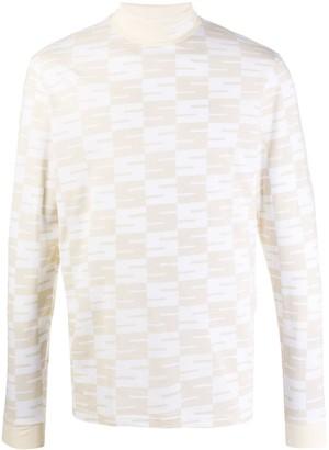 SSS World Corp all over logo print sweatshirt