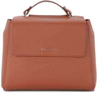 Orciani Sveva Small Tobacco Tumbled Leather Handbag