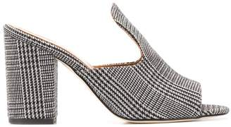 Paris Texas houndstooth open-toe sandals