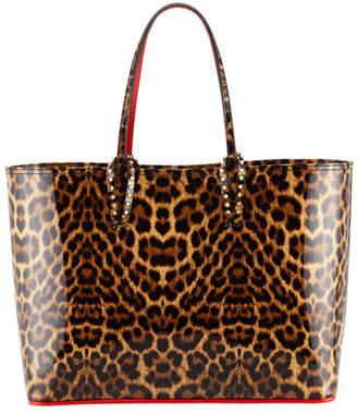 Christian Louboutin Cabata Patent Leopard Tote Bag