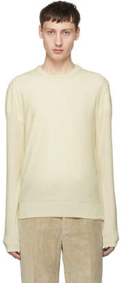 Maison Margiela Off-White Cashmere Crewneck Sweater