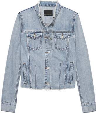 Banana Republic Petite Frayed Denim Jacket