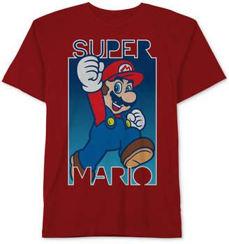 Nintendo Nintendo's Mario-Print Cotton T-Shirt, Big Boys