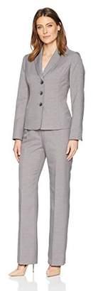 Le Suit Women's Melange 3 Button Notch Collar Pant