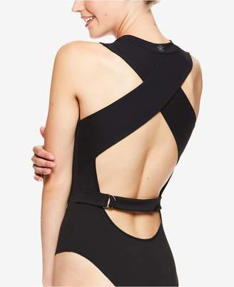 Gaiam by Jessica Biel Bleeker Open-Back D-Ring Bodysuit