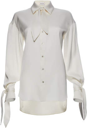 Magda Butrym Queens Tied Silk Blouse