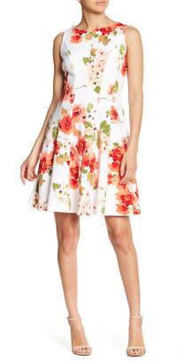 Sandra Darren Sleeveless Floral Print Dress