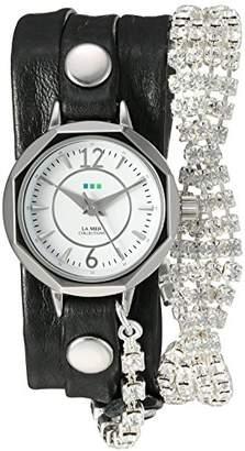 La Mer Women's Quartz Silver-Tone and Leather Watch