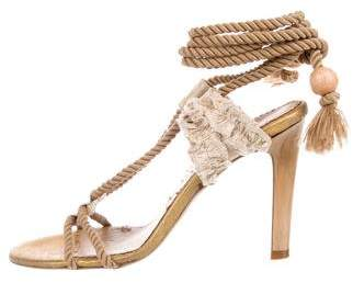 Stella McCartney Lace-Up Embellished Sandals