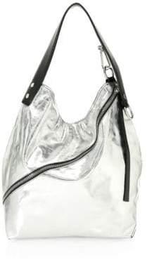 Proenza Schouler Medium Metallic Leather Hobo Bag
