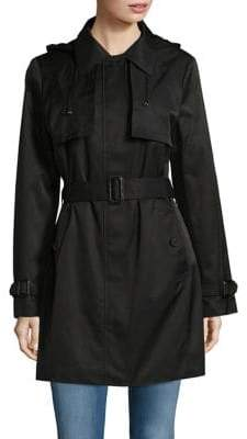 Calvin Klein Hooded Mid Length Trench Coat