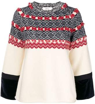 Clu patterned round neck jumper