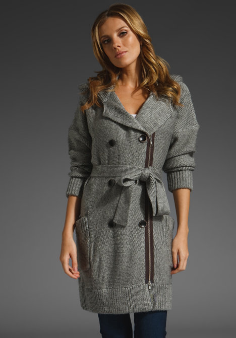 Plenty by Tracy Reese Trench Chunky Sweater