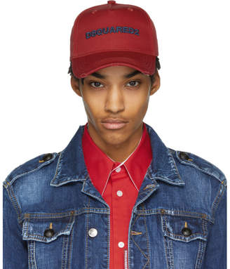 DSQUARED2 Red Logo Baseball Cap