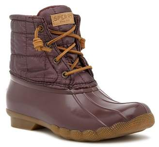 Sperry Saltwater Waterproof Shiny Quilted Boot