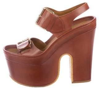 5b6d55cf92 Stella McCartney Vegan Leather Platform Sandals
