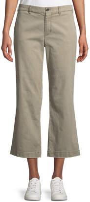 ATM Anthony Thomas Melillo Cropped Boyfriend Wide-Leg Pants