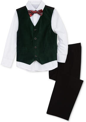 Nautica (ノーティカ) - Nautica Toddler Boys 4-Pc. Shirt, Vest, Pants & Bowtie Set
