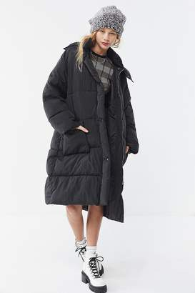 Urban Outfitters Quilted Longline Puffer Coat