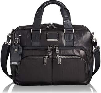 Tumi Alpha Bravo Albany Leather Slim Commuter Briefcase