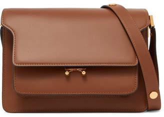 Marni Trunk Leather Shoulder Bag - Brown