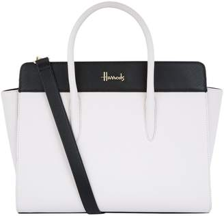 Harrods Staunton Two-Tone Shoulder Bag