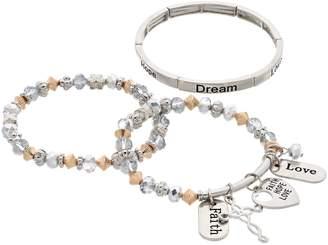 """Faith Hope Love"" Stretch Bracelet Set"