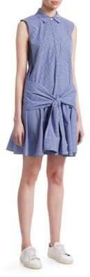 Derek Lam 10 Crosby Tie-Waist Poplin Dress