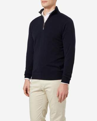 N.Peal The Carnaby Half Zip Cashmere Sweater