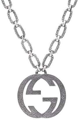 Gucci Men's Interlocking G Pendant Necklace - Silver