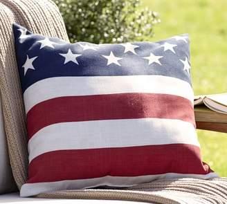 Pottery Barn American Flag Indoor/Outdoor Pillow