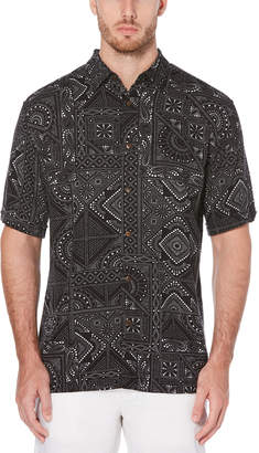 Cubavera Big & Tall Tile Print Shirt