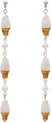 Venessa Arizaga vanilla ice cream earrings