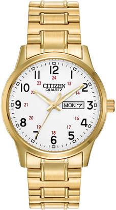 JCPenney Citizen Quartz Citizen Mens Gold-Tone Stainless Steel Expansion Strap Watch BF0612-95A