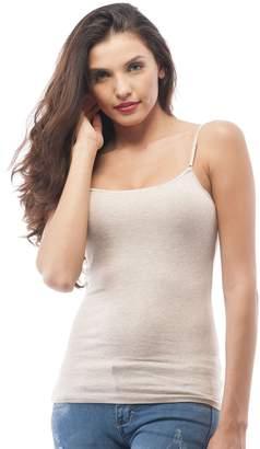 e2d9367694e253 Hollywood Star Fashion Cami Camisole Built in Bra Adjustable Spaghetti  Strap Tank Top