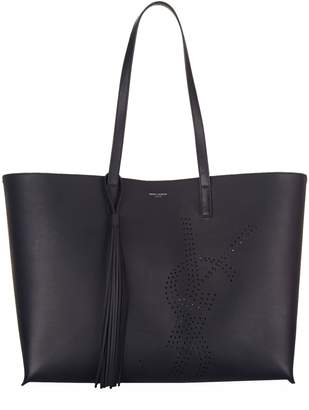 Saint Laurent Large Perforated Shopper Tote