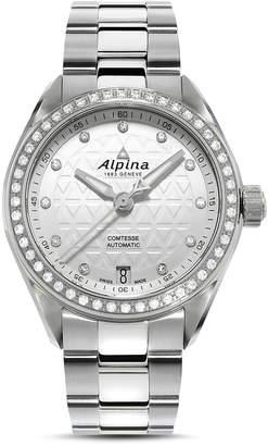 Alpina Comtesse Sport Watch with Diamonds, 34mm