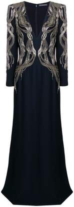 Alexander McQueen embellished long gown
