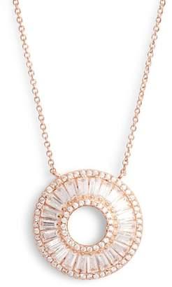 Nina Baguette Cubic Zirconia Circle Pendant Necklace