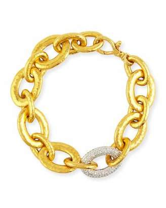 Gurhan 24k Galahad Link Bracelet with Diamonds