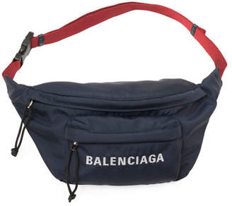Balenciaga Wheel Canvas Belt Fanny Pack Bag with Logo