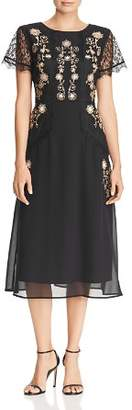 Nanette Lepore nanette Embellished Chiffon Midi Dress