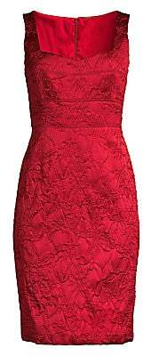 Elie Tahari Women's Femi Matelassé Sheath Dress - Size 0