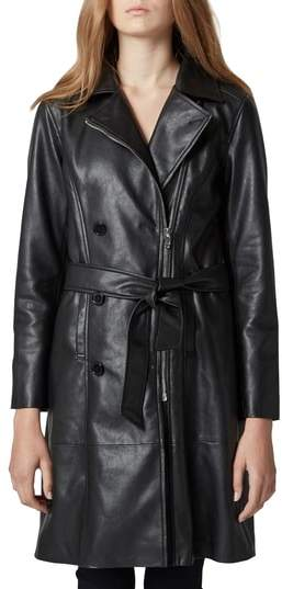 BLANKNYC Faux Leather Trench Coat